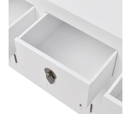 vidaXL Aparador de estilo chino de madera maciza blanco[5/8]