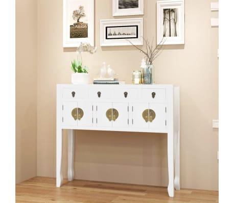 vidaxl sideboard im chinesischen stil massivholz wei g nstig kaufen. Black Bedroom Furniture Sets. Home Design Ideas