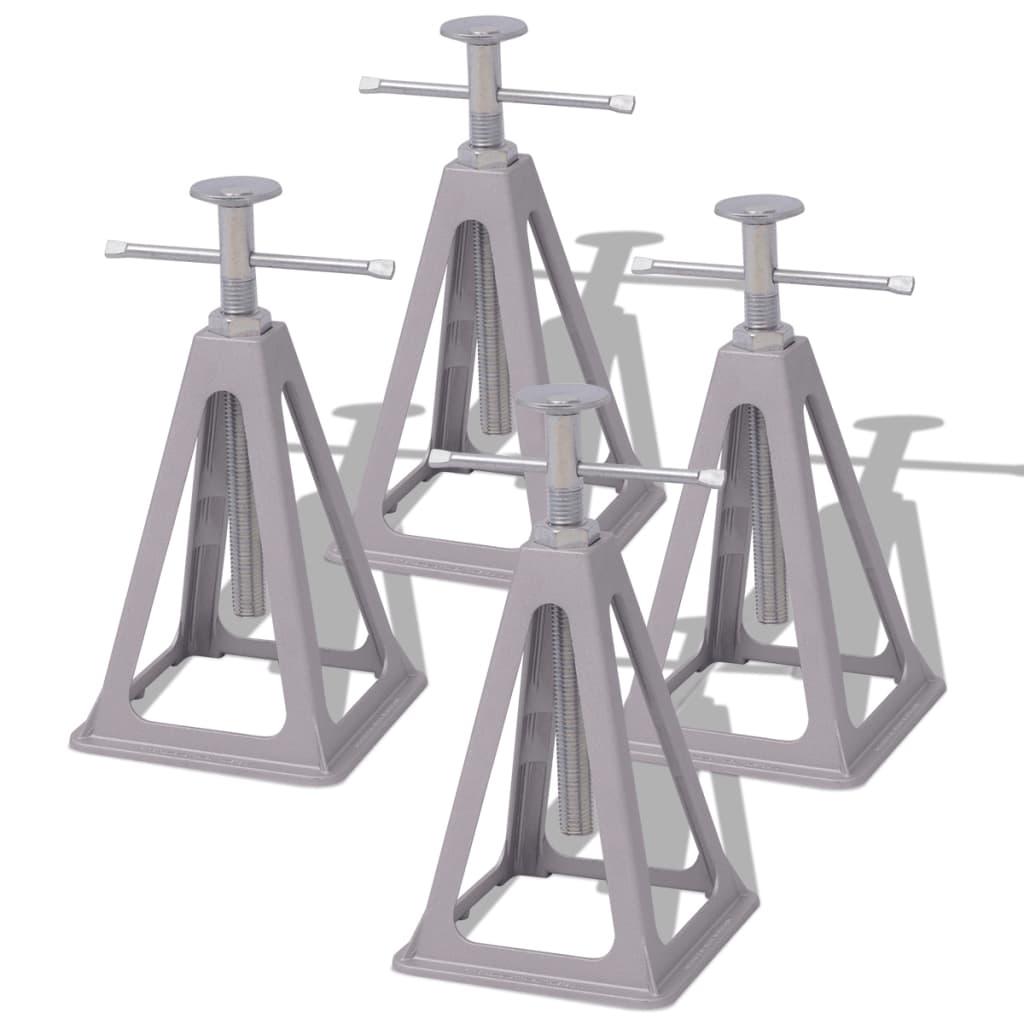 vidaXL Stabilizatori pentru rulotă 285-430mm, aluminiu și oțel, 4 buc. poza 2021 vidaXL
