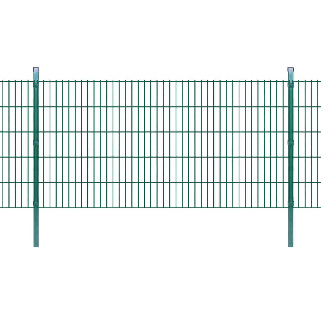 vidaXL 2D Zahradní plotové dílce a sloupky 2008x1030 mm 8 m zelené