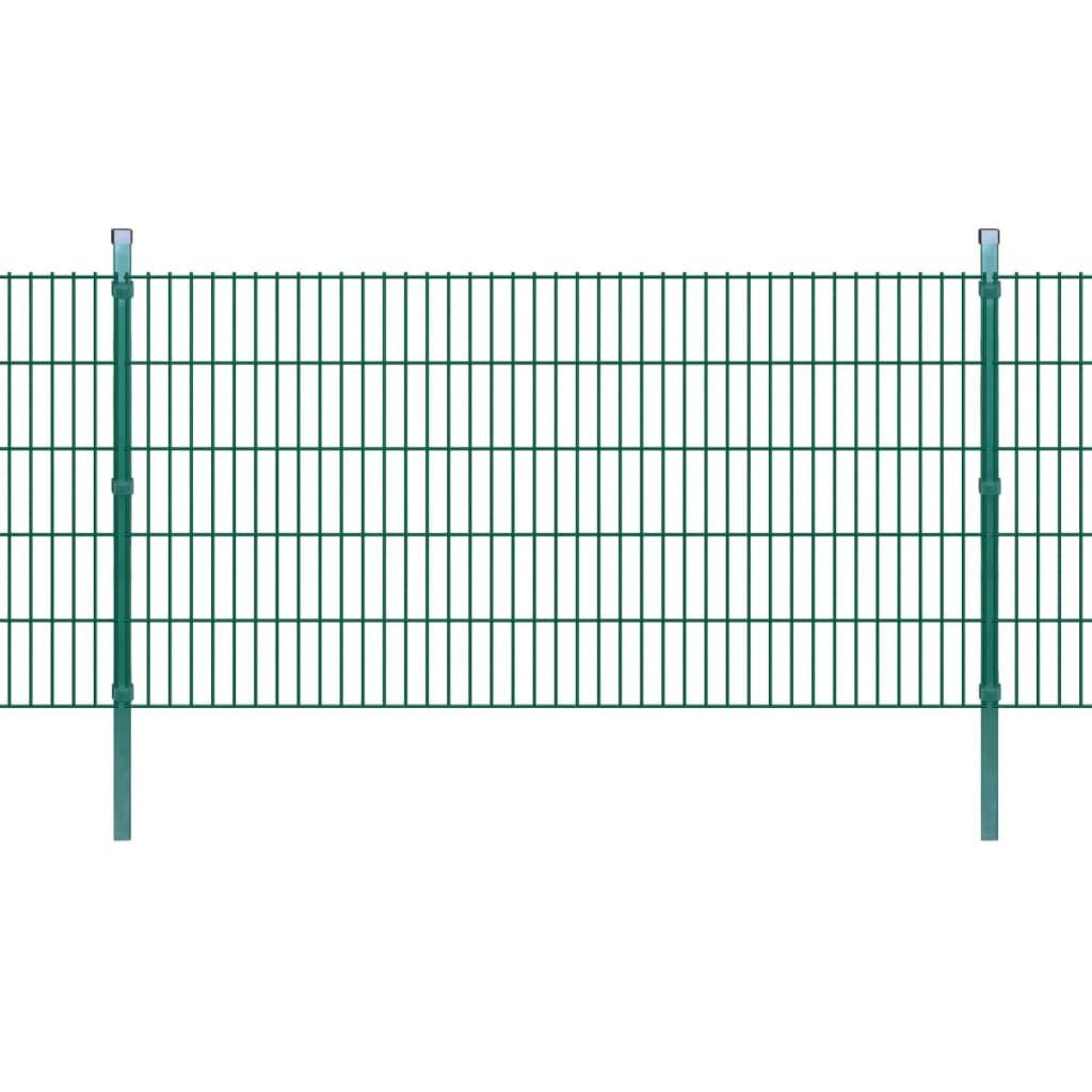 vidaXL 2D Zahradní plotové dílce a sloupky 2008x1030 mm 46 m zelené