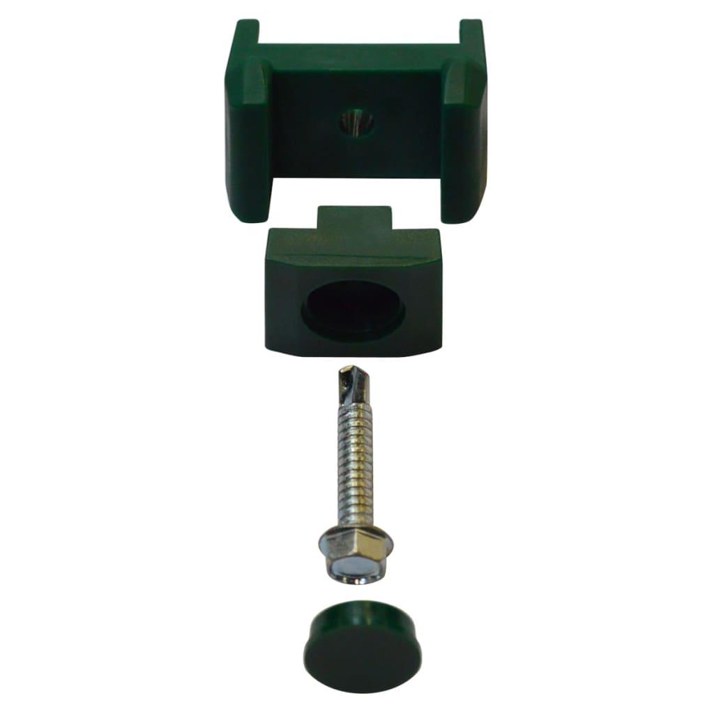 Dubbelstaafmatten en palen 2008x1830 mm 2 m groen