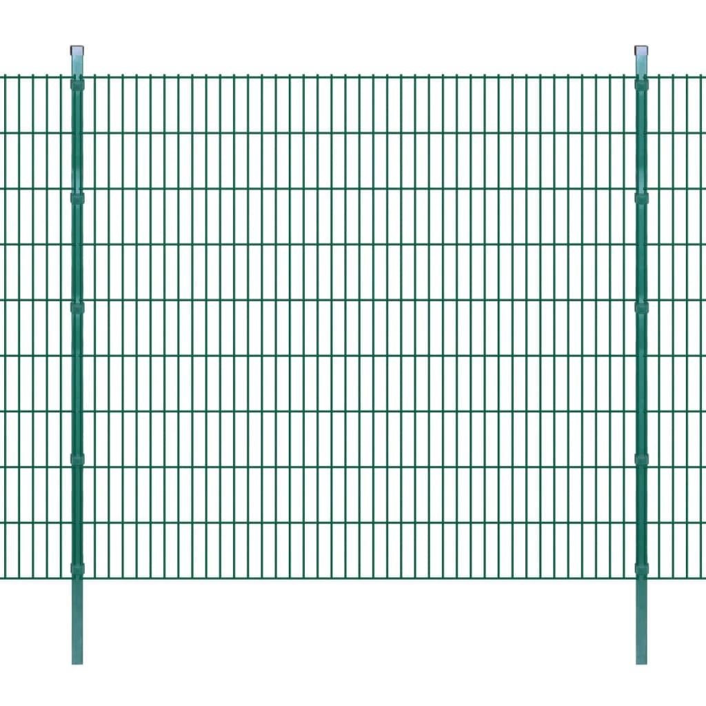 vidaXL 2D zahradní plotové dílce a sloupky 2008x1830 mm, 14 m, zelené