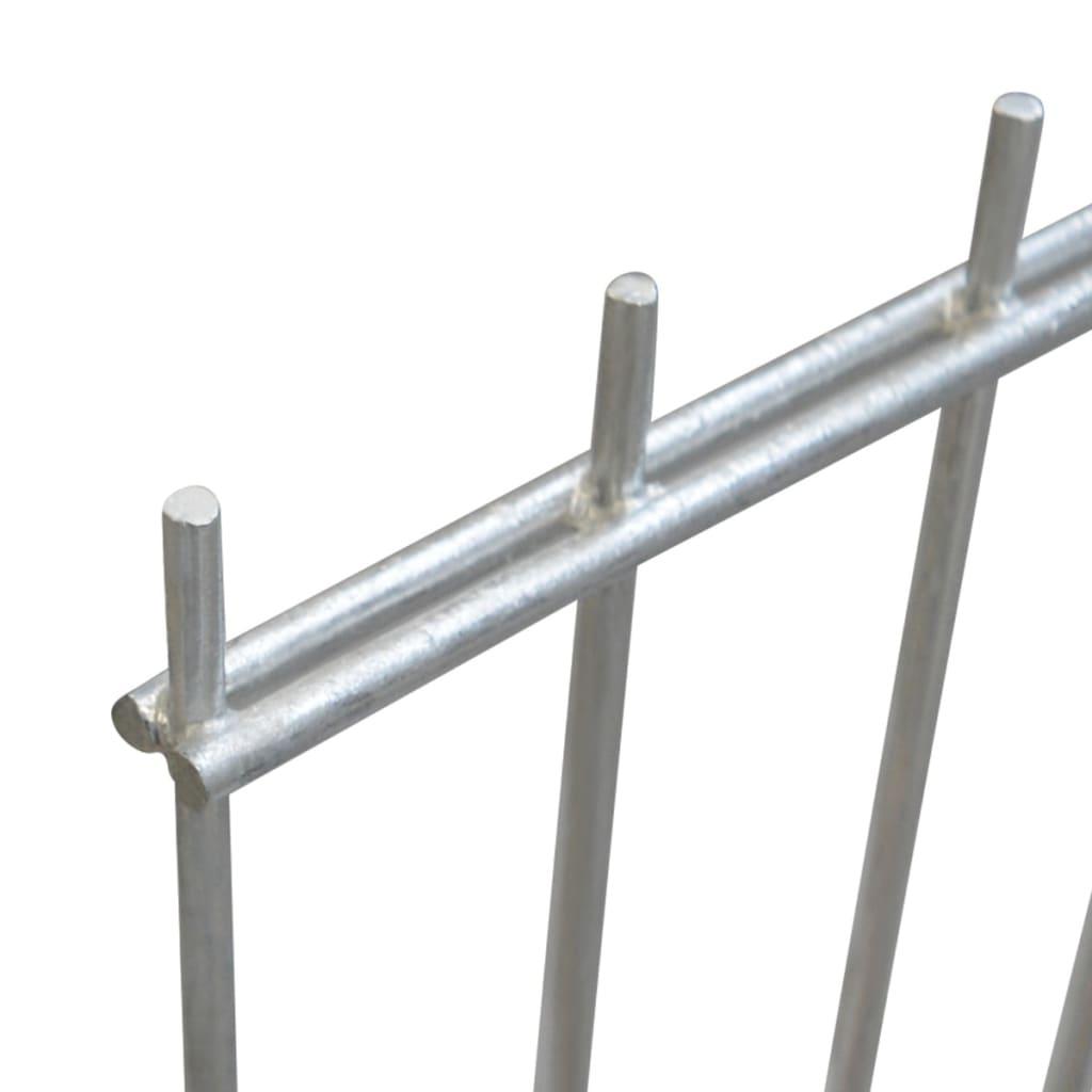 vidaXL Dubbelstaafmatten en palen 2008x1830 mm 38 m zilverkleurig