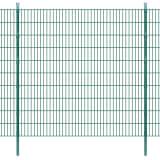 vidaXL 2D Panele i słupki ogrodzeniowe 2008x2030 mm 4 m zielone