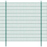 vidaXL Panele ogrodzeniowe 2D z słupkami 2008x2230 mm 4 m Zielone