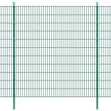 vidaXL Panele ogrodzeniowe 2D z słupkami - 2008x2230 mm 8 m Zielone