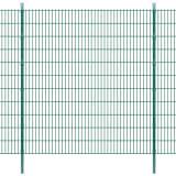 vidaXL Panneaux et poteaux de clôture 2D pour jardin 2008x2230 mm 32 m