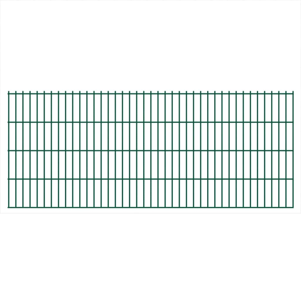 vidaXL 2D Zahradní plotové dílce a sloupky 2008x830 mm 20 m zelené