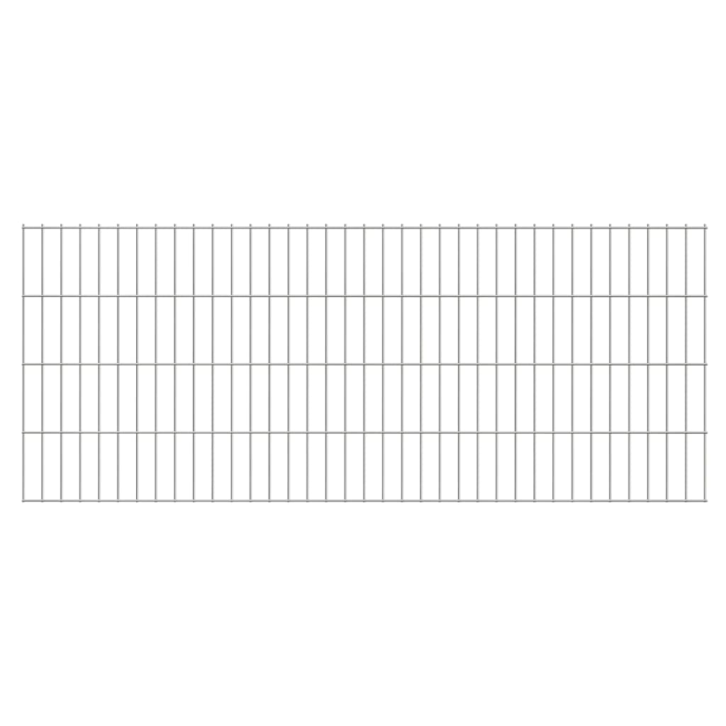 vidaXL 2D zahradní plotové dílce 2008x830 mm, 12 m, stříbrné