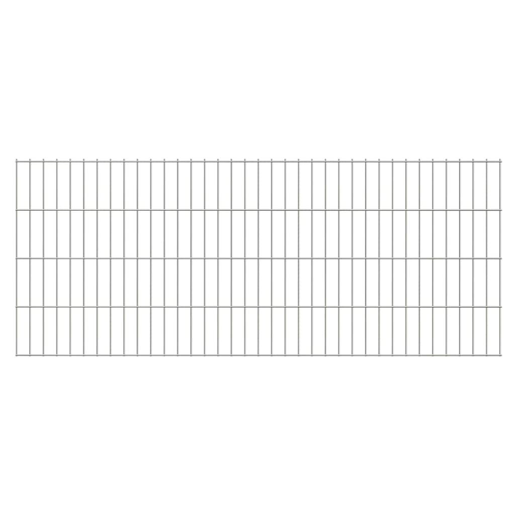 vidaXL Dubbelstaafmatten 2,008x0,83 m 18 m (totale lengte) zilverkleur