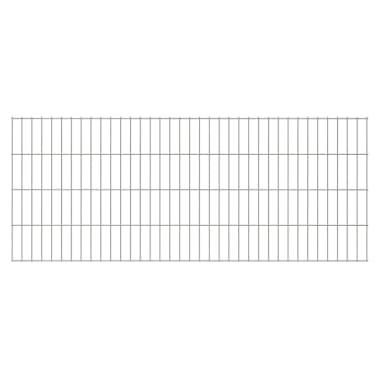 vidaXL 2D Pannello di Recinzione Giardino 2008x830 mm 26m Argento[1/5]