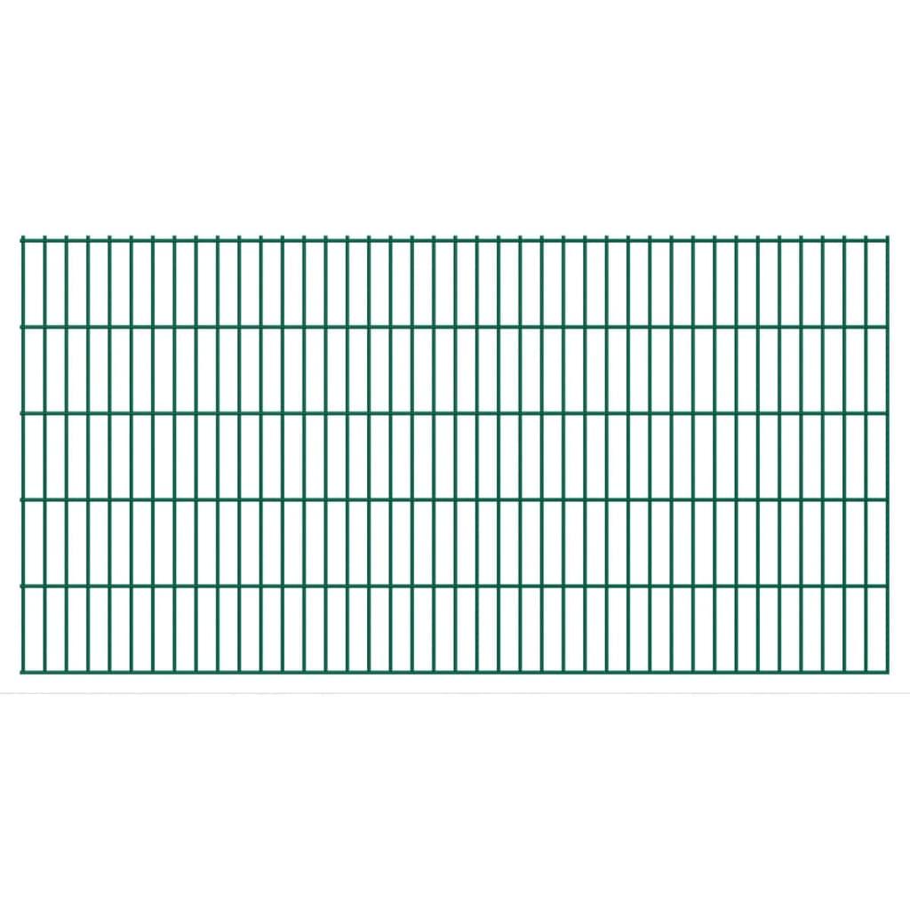 vidaXL 2D zahradní plotové dílce 2008x1030 mm, 18 m, zelené
