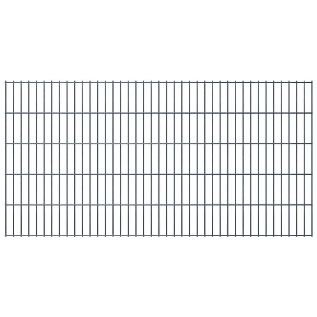 vidaXL 2D Zahradní plotové dílce 2008x1030 mm 22 m šedé