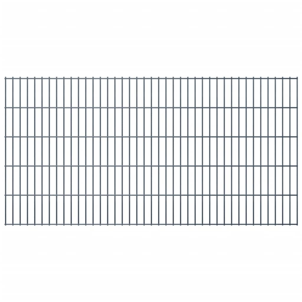 vidaXL 2D Zahradní plotové dílce 2008x1030 mm 34 m šedé