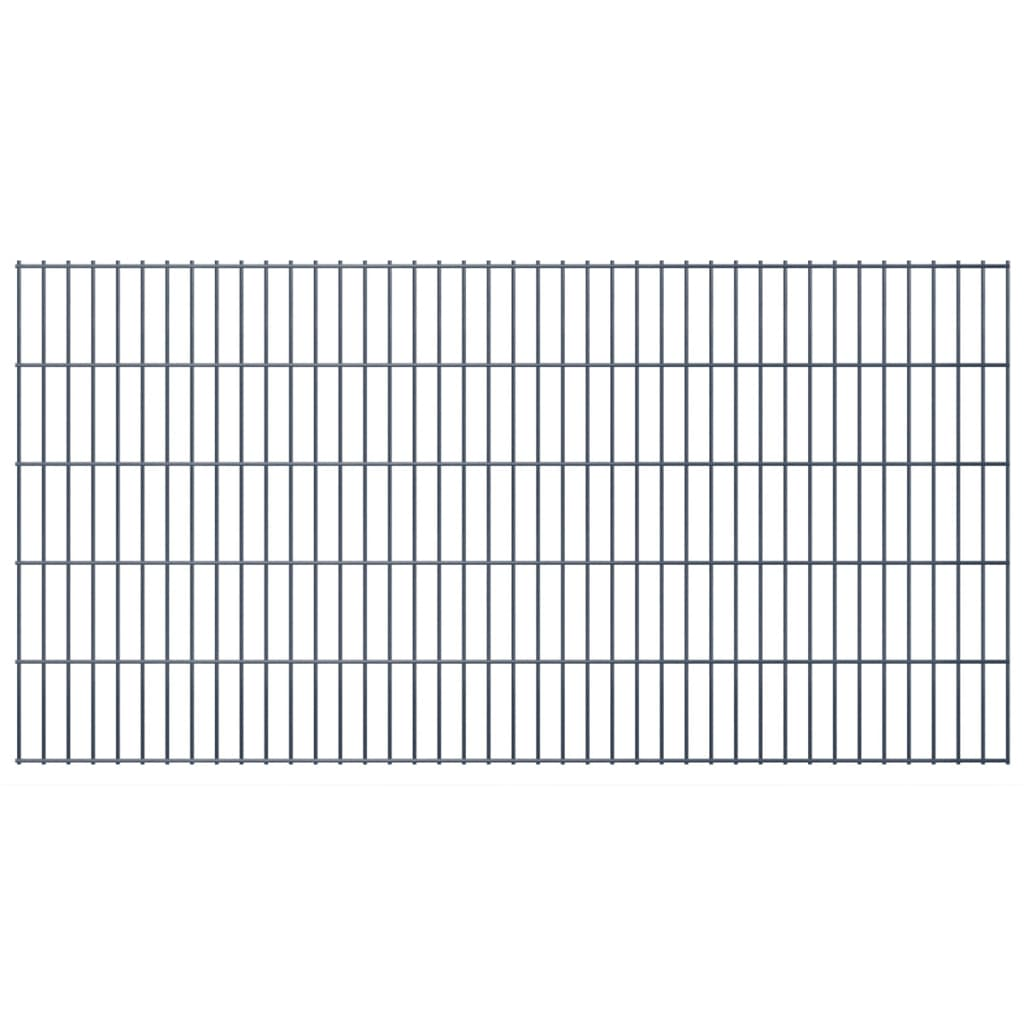 vidaXL 2D Zahradní plotové dílce 2008x1030 mm 40 m šedé