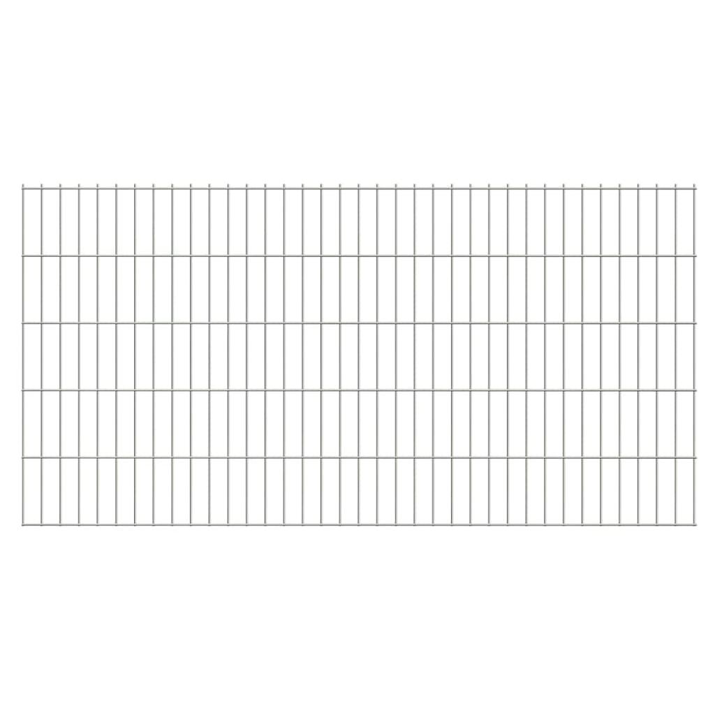 vidaXL 2D Zahradní plotové dílce 2008x1030 mm 40 m stříbrné