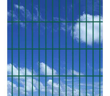vidaXL Panneaux de clôture 2D pour jardin 2008x1230 mm 32 m Vert[3/5]