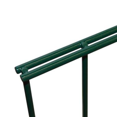 vidaXL Panneaux de clôture 2D pour jardin 2008x1230 mm 32 m Vert[4/5]