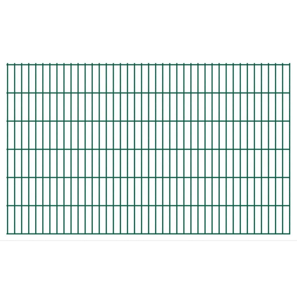 vidaXL Dubbelstaafmatten 2,008x1,23 m 36 m (totale lengte) groen