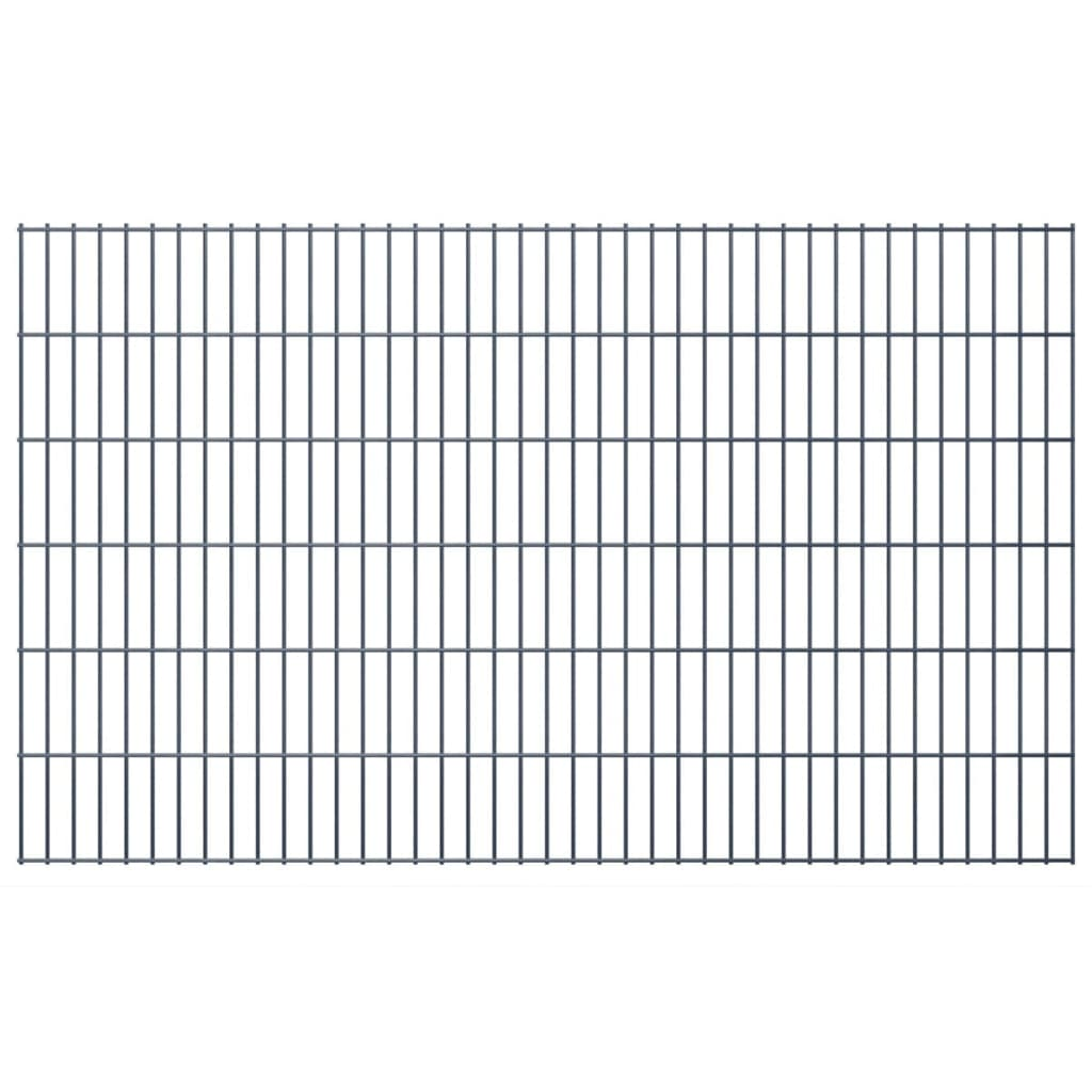vidaXL 2D zahradní plotové dílce 2008x1230 mm, 12 m, šedé