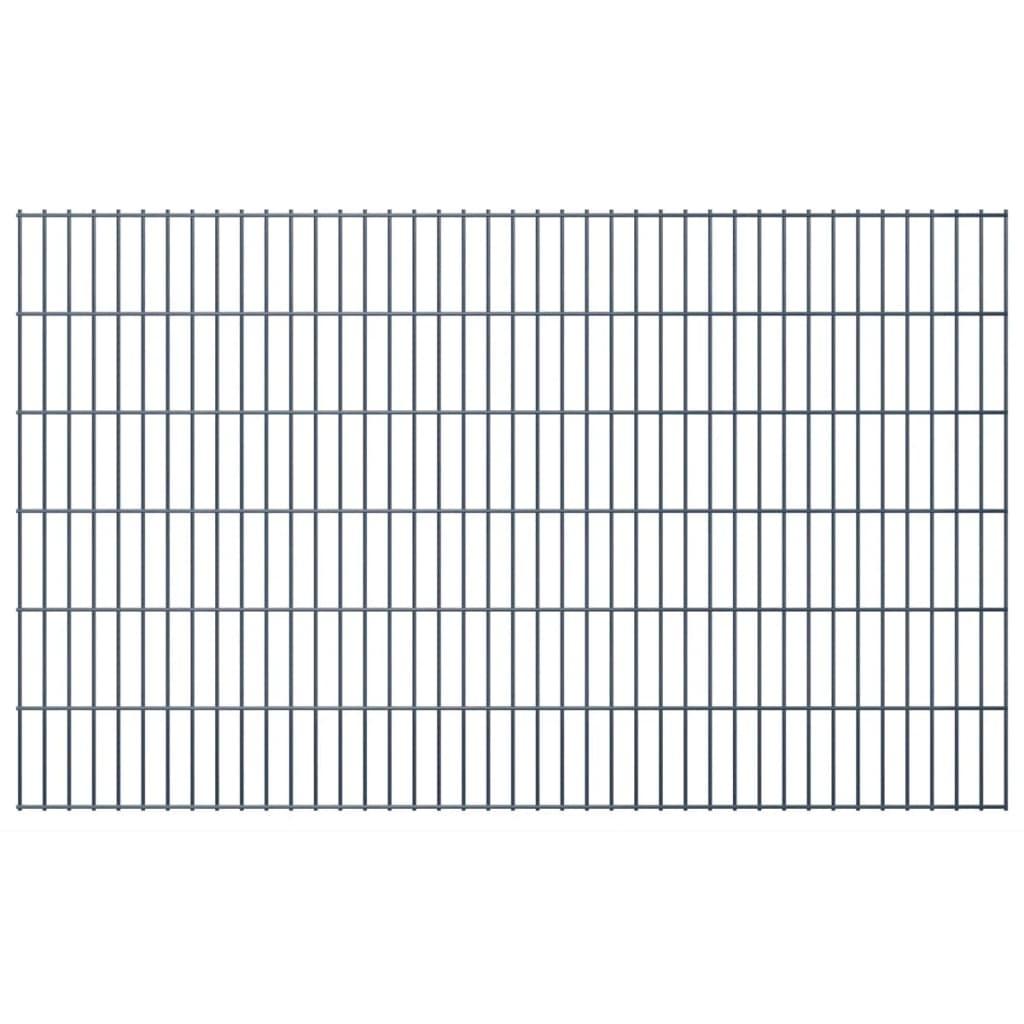 vidaXL 2D zahradní plotové dílce 2008x1230 mm, 50 m, šedé