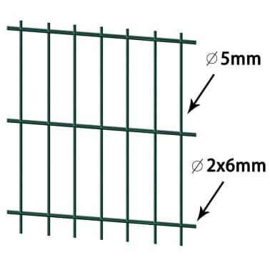 vidaXL Doppelstabmattenzaun 2008x1430 mm 18 m Grün[2/5]
