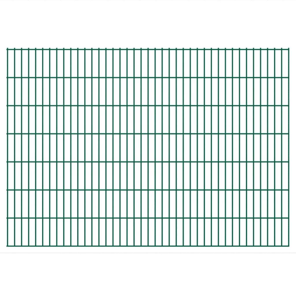 vidaXL 2D Zahradní plotové dílce 2008x1430 mm 42 m zelené