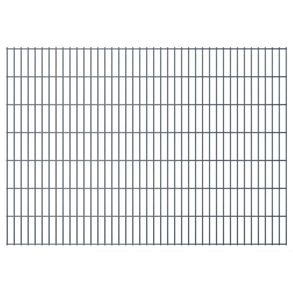 vidaXL 2D zahradní plotové dílce 2008x1430 mm, 30 m, šedé