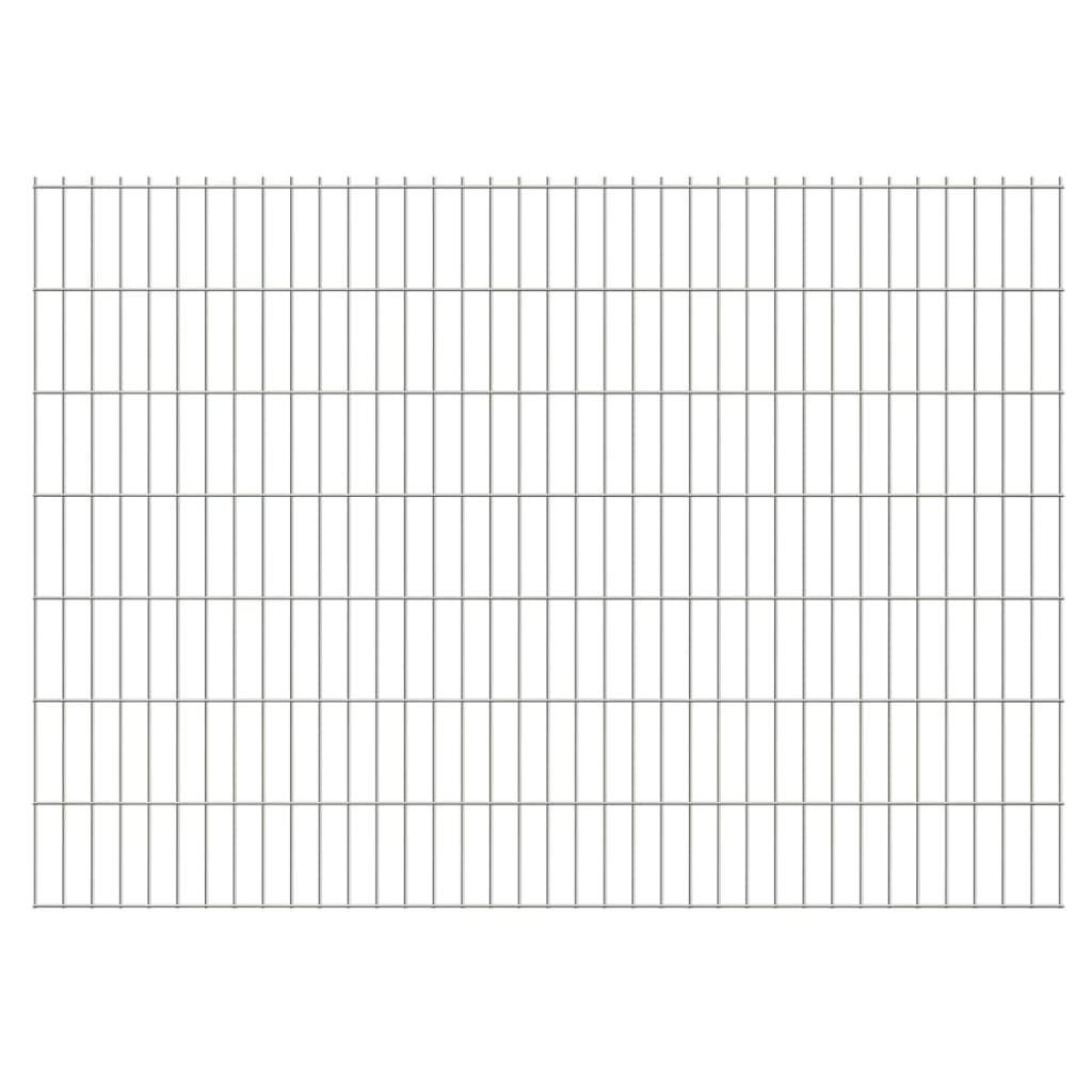 vidaXL 2D zahradní plotové dílce 2008x1430 mm, 6 m, stříbrné