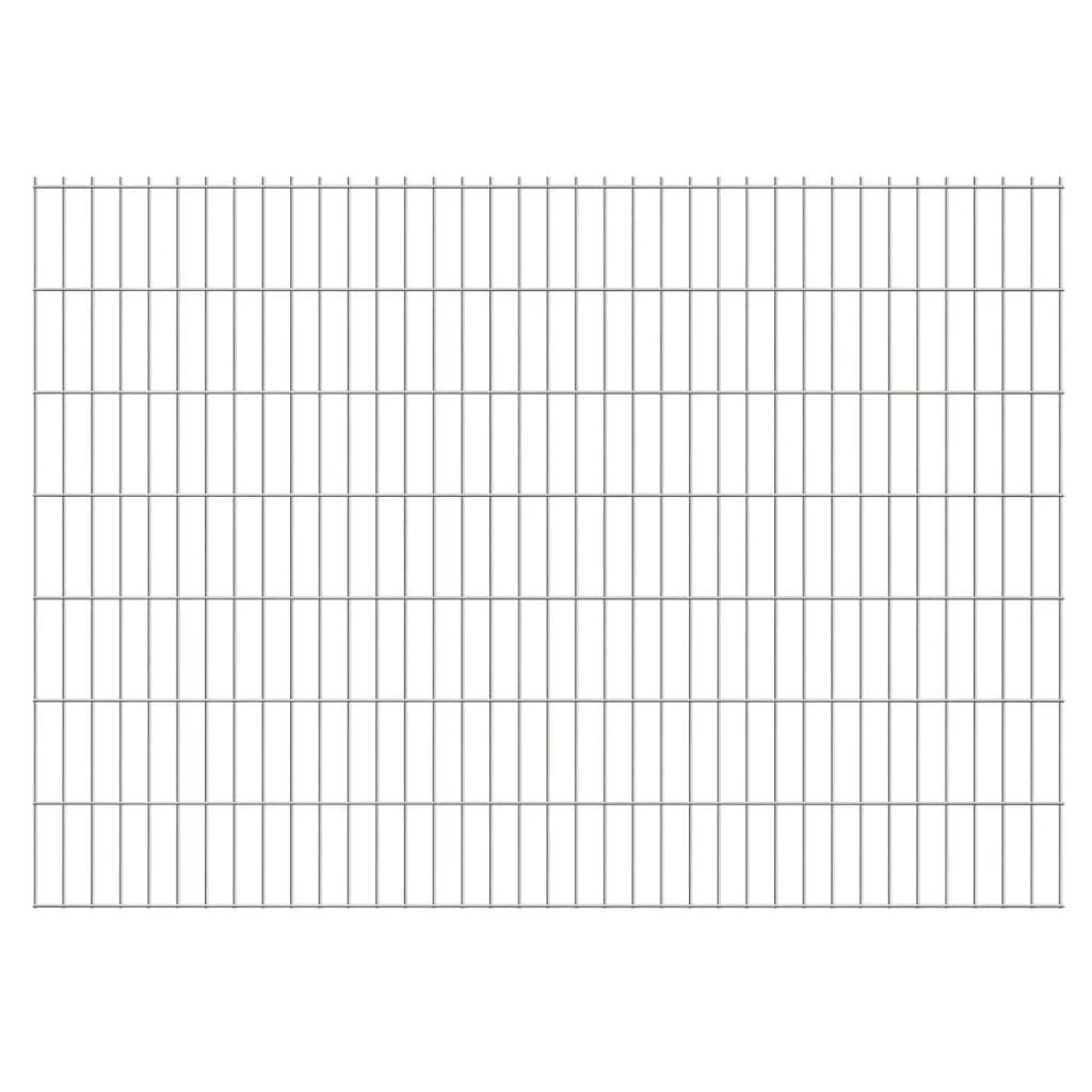 vidaXL 2D zahradní plotové dílce 2008x1430 mm, 40 m, stříbrné