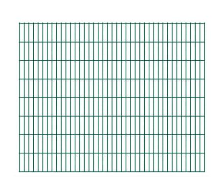 vidaXL Panneaux de clôture 2D pour jardin 2008x1630 mm 32 m vert[1/5]