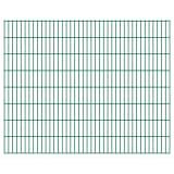 vidaXL Panneaux de clôture 2D pour jardin 2008x1630 mm 32 m vert