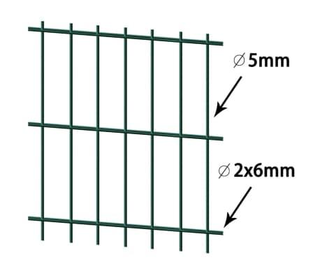 vidaXL Panneaux de clôture 2D pour jardin 2008x1630 mm 32 m vert[3/5]
