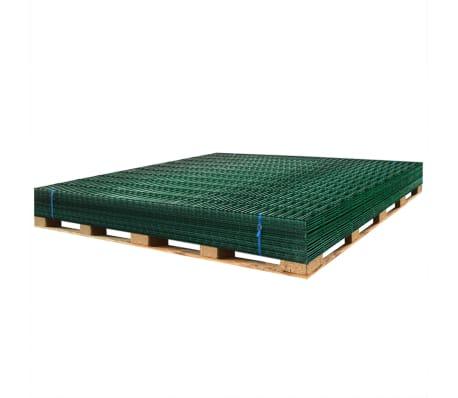 vidaXL Panneaux de clôture 2D pour jardin 2008x1630 mm 32 m vert[5/5]