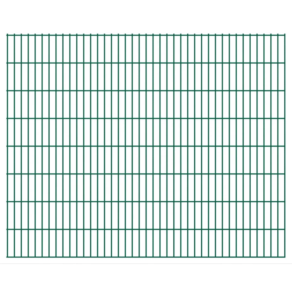 vidaXL 2D zahradní plotové dílce 2008x1630 mm, 34 m, zelené