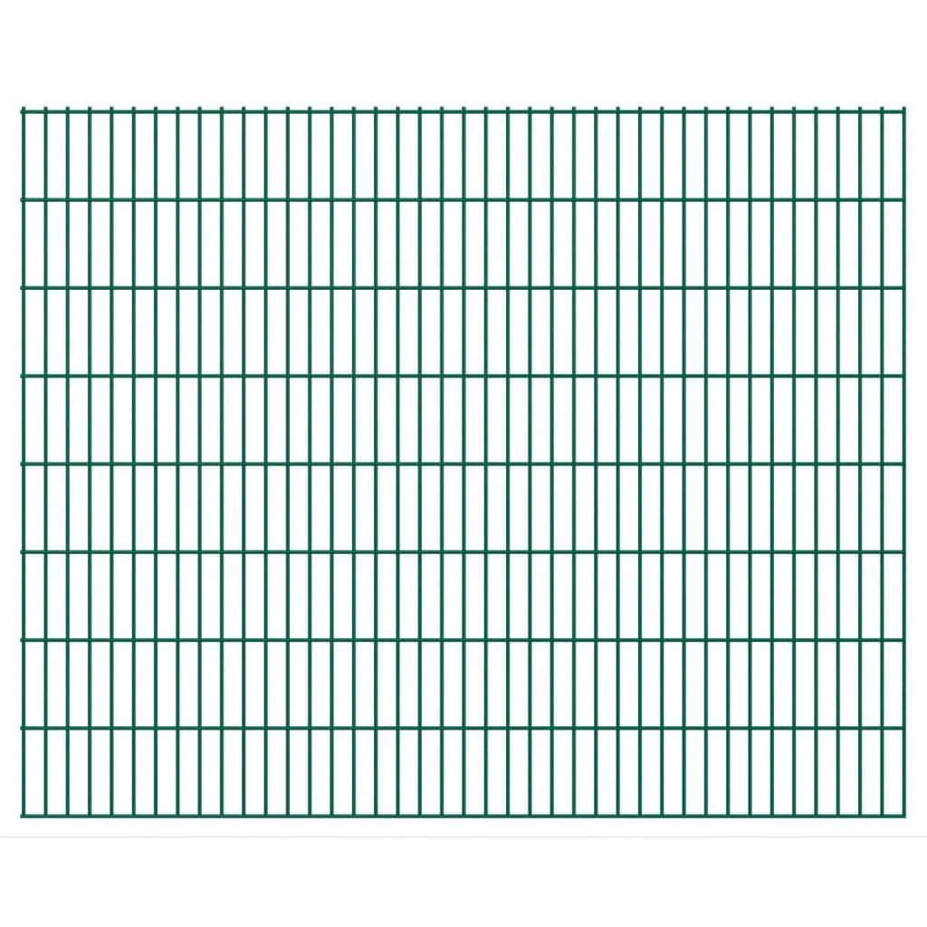 vidaXL 2D zahradní plotové dílce 2008x1630 mm 38 m zelené