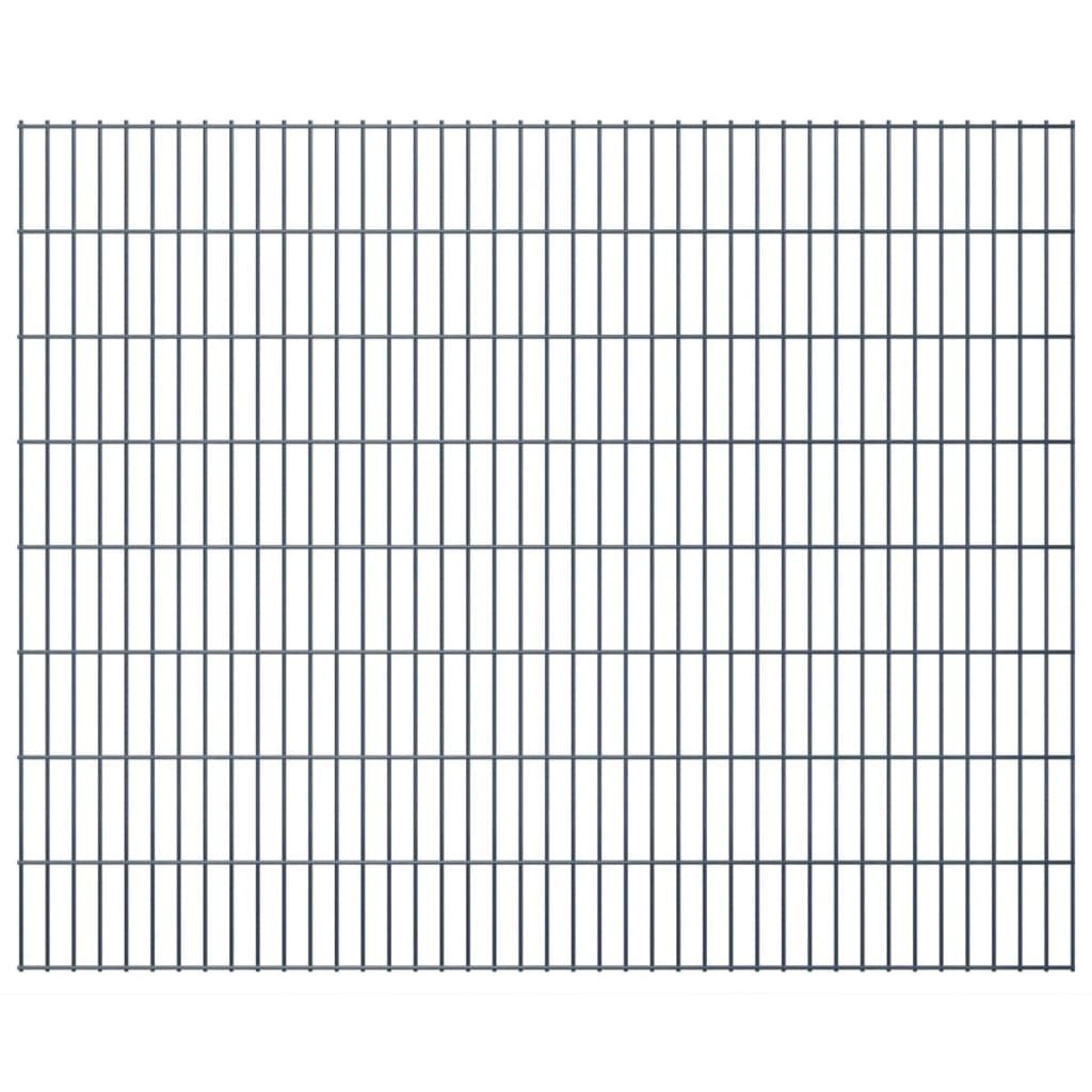 vidaXL 2D zahradní plotové dílce 2008x1630 mm, 44 m, šedé