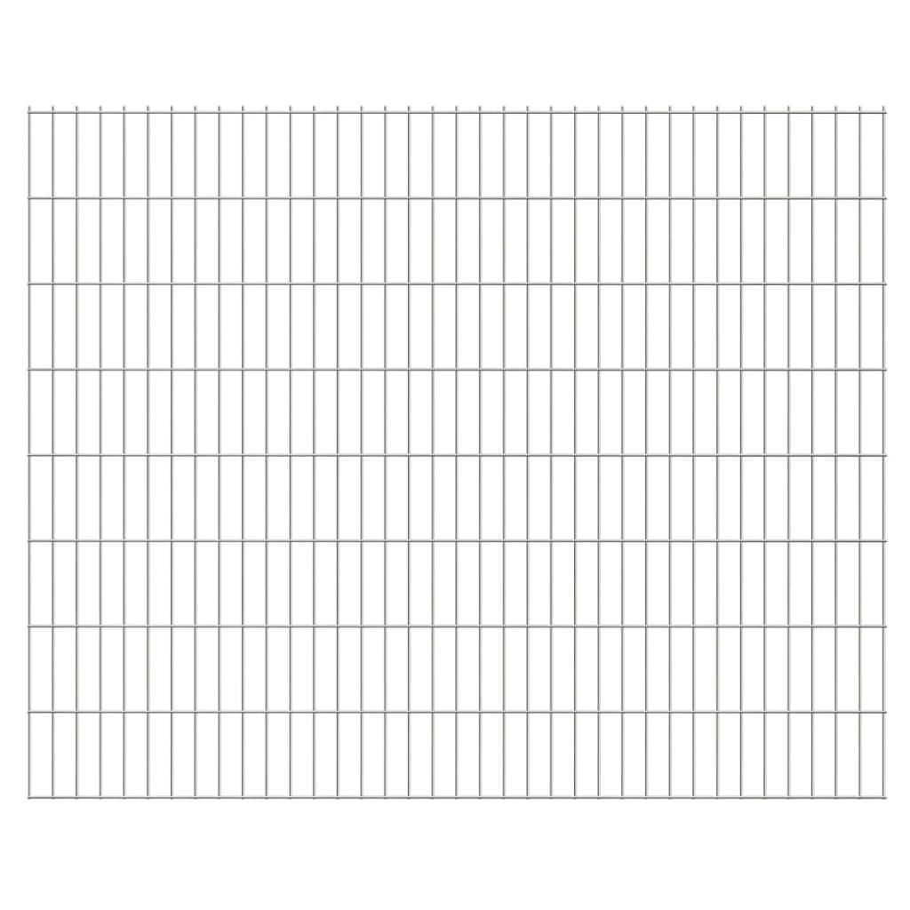 vidaXL 2D zahradní plotové dílce 2008x1630 mm, 8 m, stříbrné