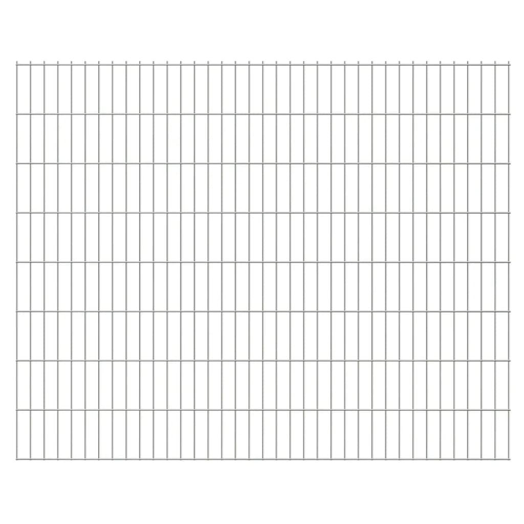 vidaXL 2D zahradní plotové dílce 2008x1630 mm, 22 m, stříbrné