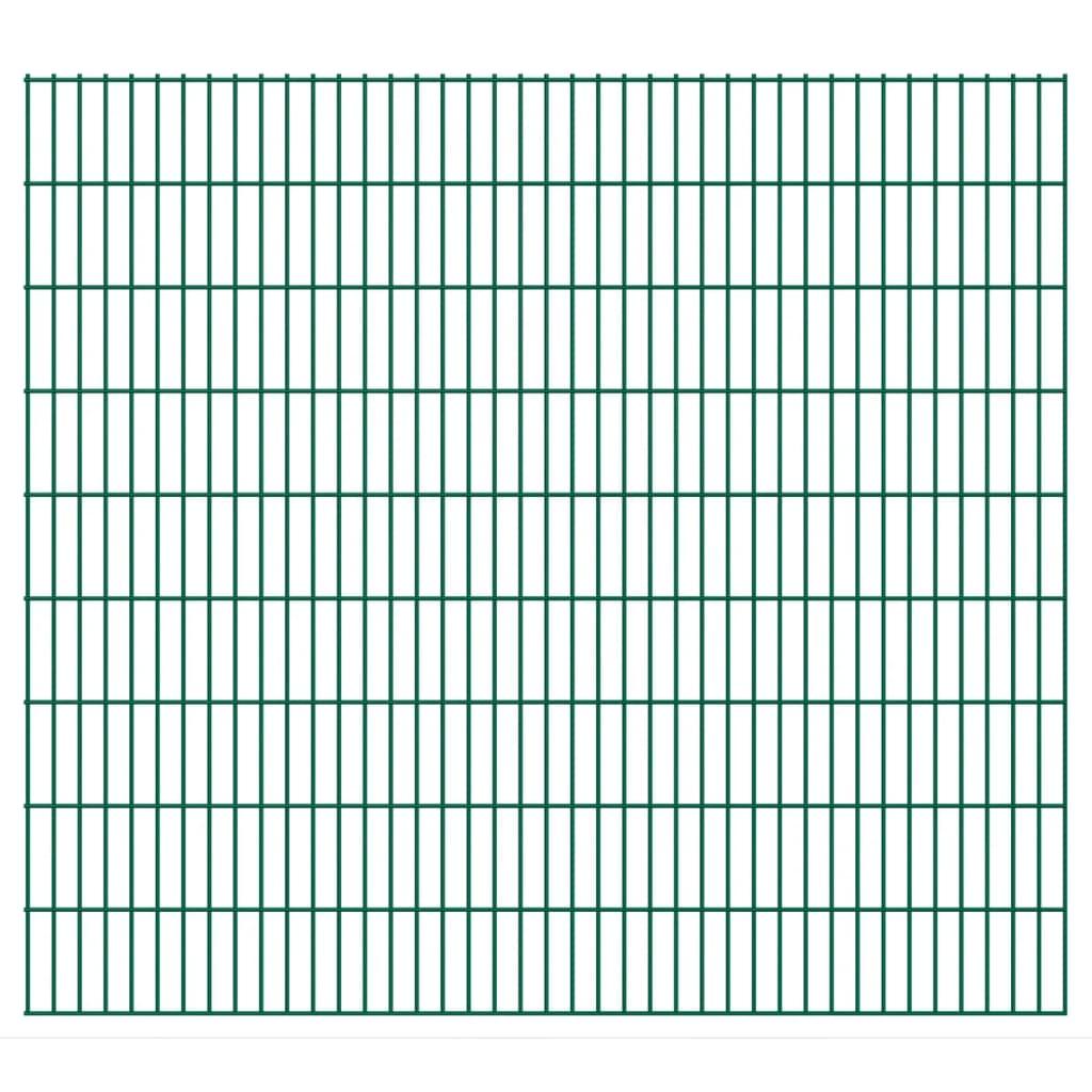 vidaXL Dubbelstaafmatten 2,008x1,83 m 24 m (totale lengte) groen