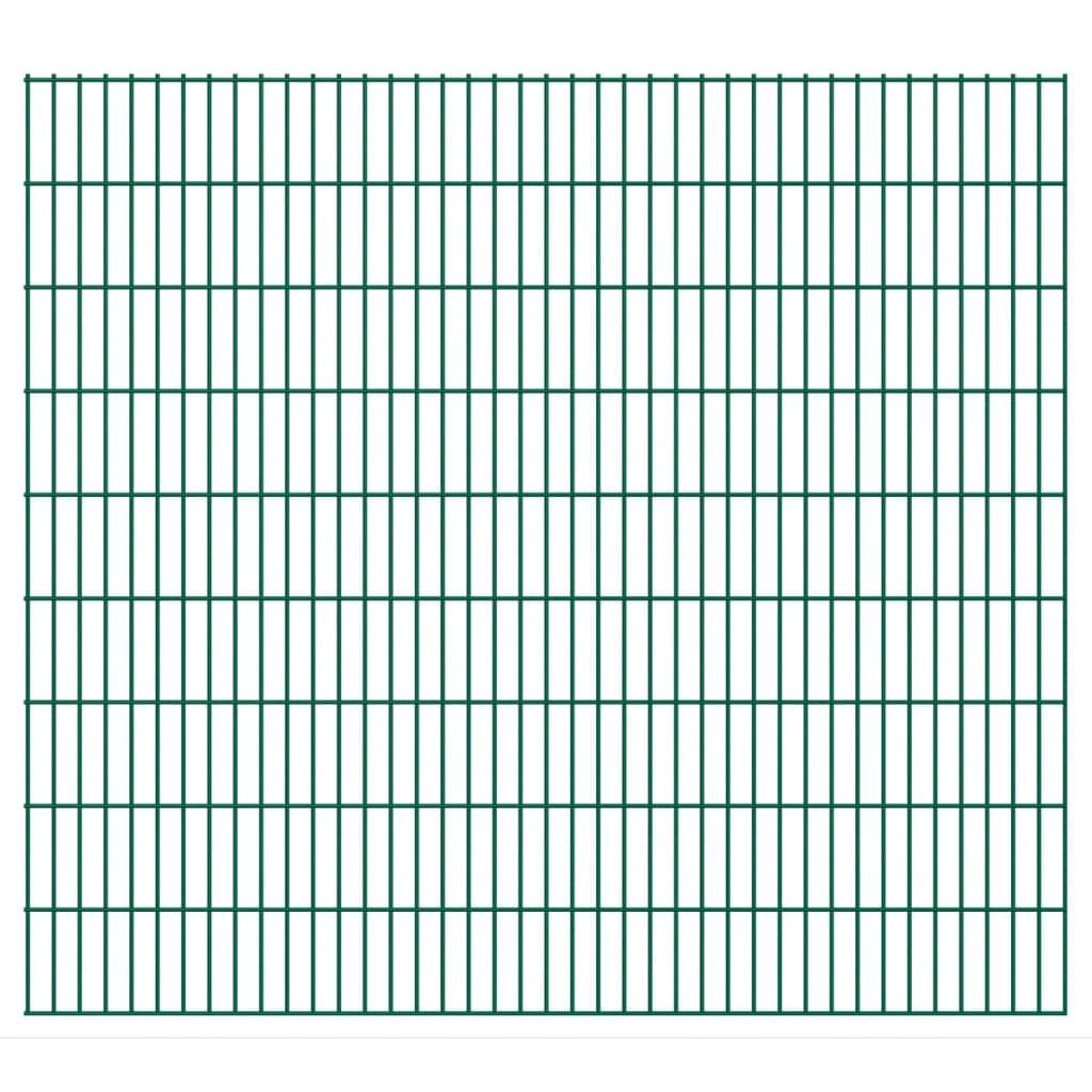 vidaXL 2D zahradní plotové dílce 2008x1830 mm, 26 m, zelené