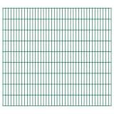 vidaXL 2D Panneaux de clôture de jardin 2008 x 1830 mm 32 m Vert