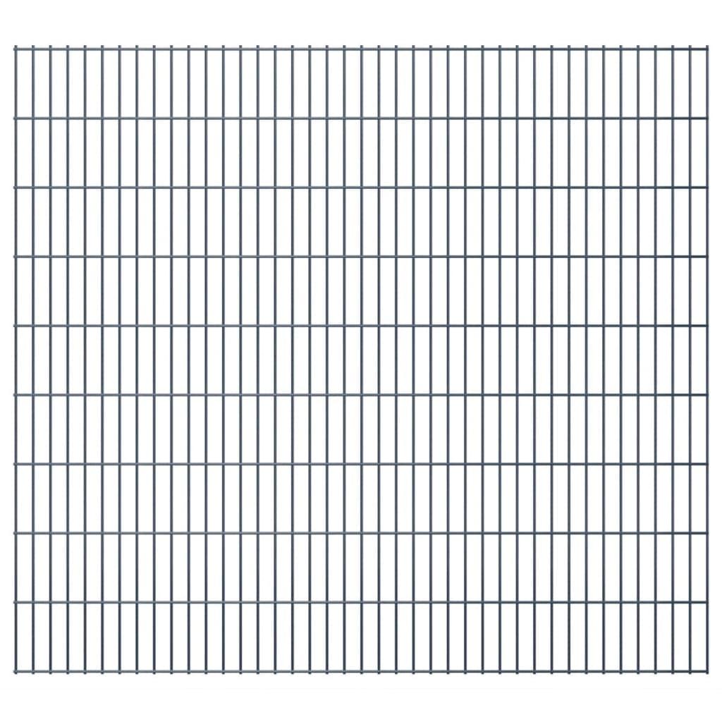 vidaXL 2D zahradní plotové dílce 2008x1830 mm, 14 m, šedé
