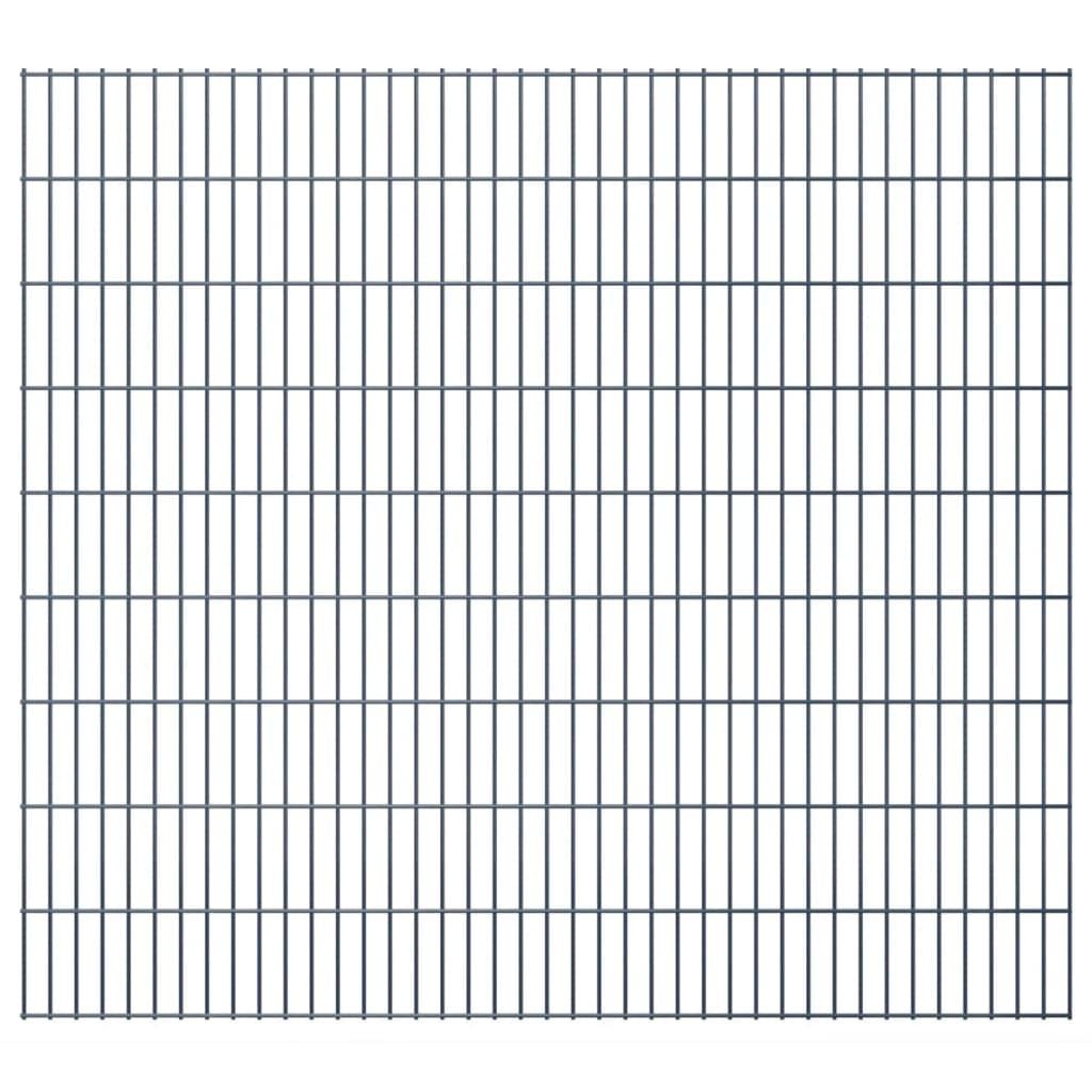 vidaXL 2D zahradní plotové dílce 2008x1830 mm, 48 m, šedé