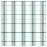 vidaXL Panneaux de clôture 2 D de jardin 2008 x 2030 mm 32 m Vert