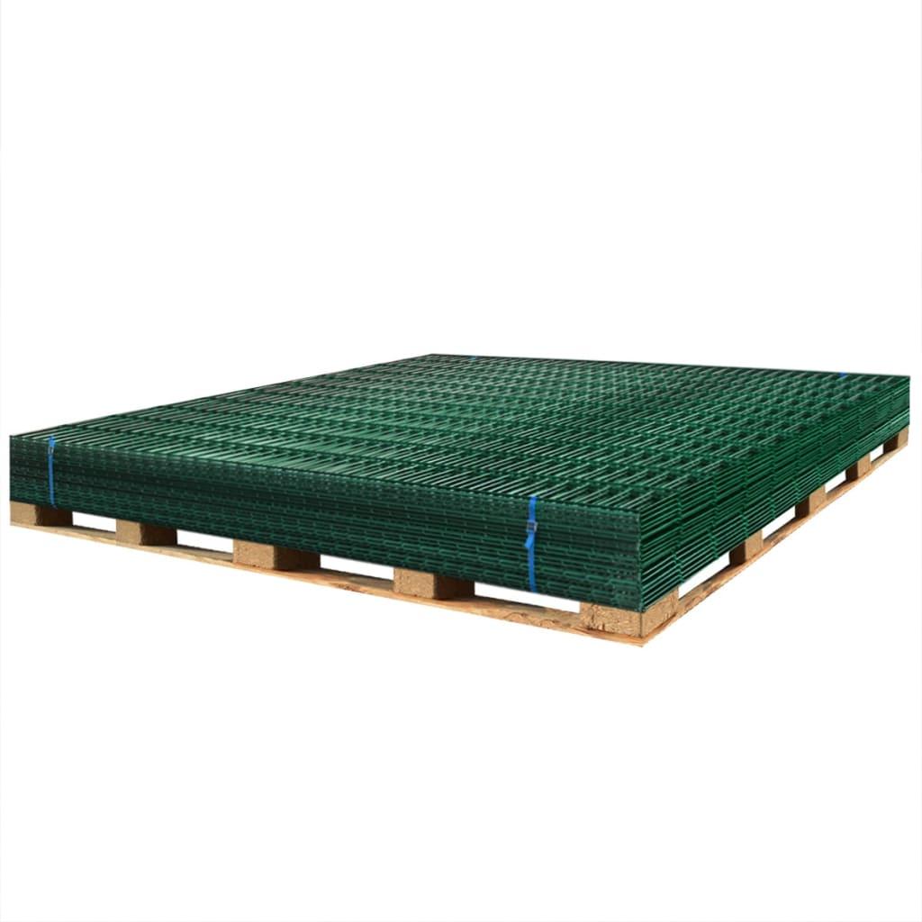 vidaXL Dubbelstaafmatten 2,008x2,03 m 40 m (totale lengte) groen