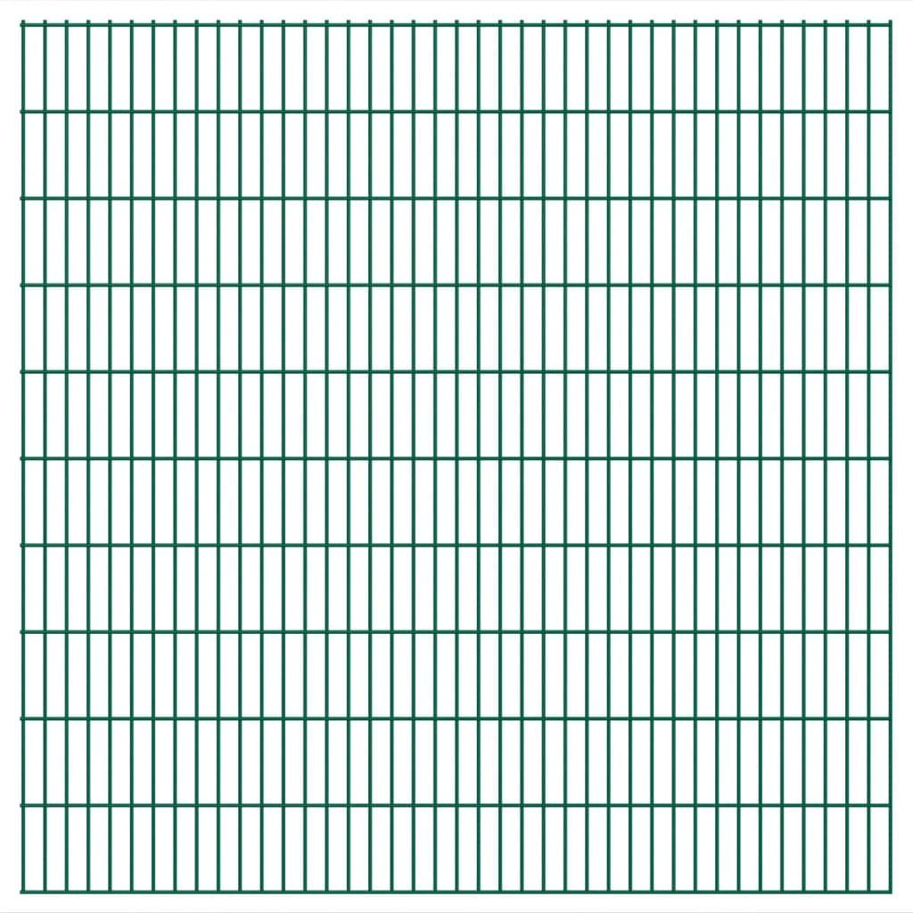 vidaXL Dubbelstaafmatten 2,008x2,03 m 44 m (totale lengte) groen