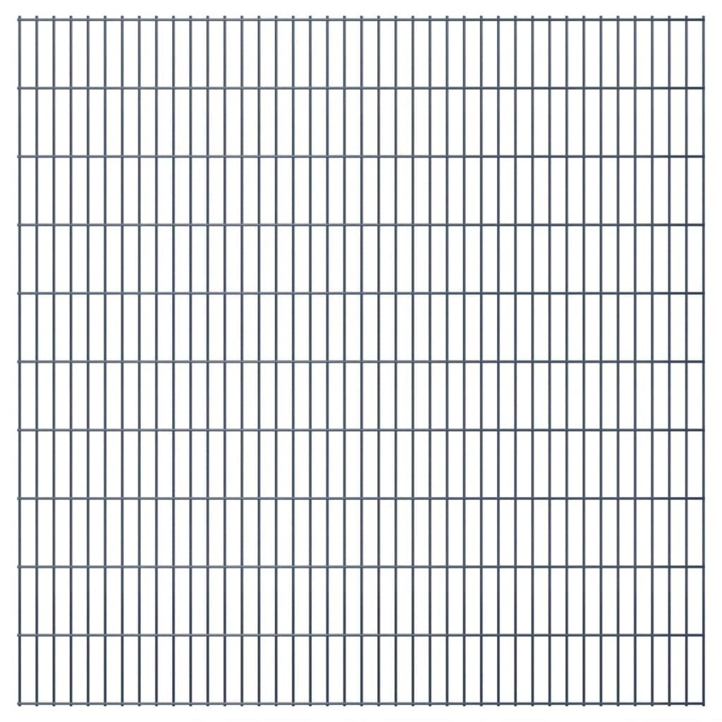 vidaXL 2D zahradní plotové dílce 2008x2030 mm, 42 m, šedé