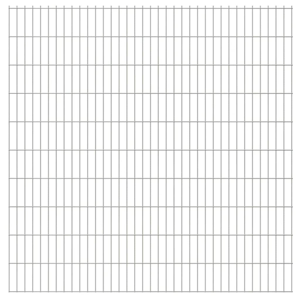 vidaXL 2D zahradní plotové dílce 2008x2030 mm, 36 m, stříbrné